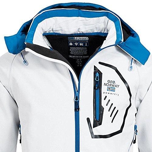 Blanco hombre para Chaqueta Norway Azul Geographical pxwqZF7