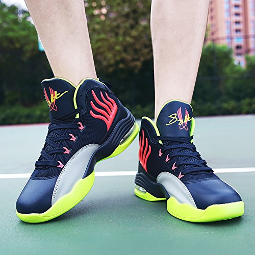 No.66 Mens Da Uomo Assorbimento Durto Da Corsa Scarpe Da Tennis Sneaker Scarpe Da Basket Blu Intenso