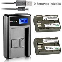 Kastar Battery (X2) & LCD Slim USB Charger for Canon BP-511 BP-511A and EOS 5D 10D 20D 30D 40D 50D Digital Rebel 1D D60 300D D30 Kiss Powershot G5 Pro 1 G2 G3 G6 G1 Pro90 Optura 20, Grip BG-E2N