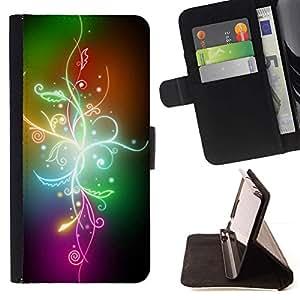 For LG G4 Stylus / G Stylo / LS770 H635 H630D H631 MS631 H635 H540 H630D H542 Case , Abstract color Flores- la tarjeta de Crédito Slots PU Funda de cuero Monedero caso cubierta de piel
