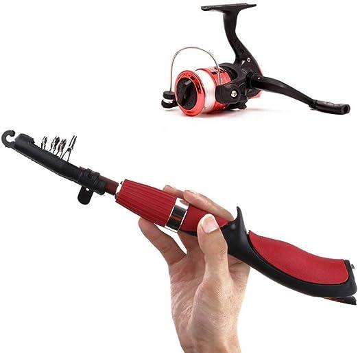 LMEI-QUN, Mini Pistola Stlye Cañas de Pescar de Invierno Caña de ...