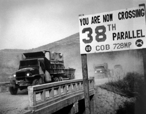 Crossing The 38th Parallel Korean War Poster Photo US Military Posters Photos (Korean Movie Poster)