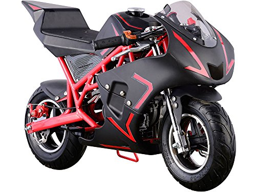USA Big Toys Cali 40cc Gas Pocket Bike in Red