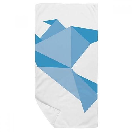 DIYthinker Resumen de Origami Paloma Azul Patrón Toalla de baño Suave paño de Facecloth 35X70Cm