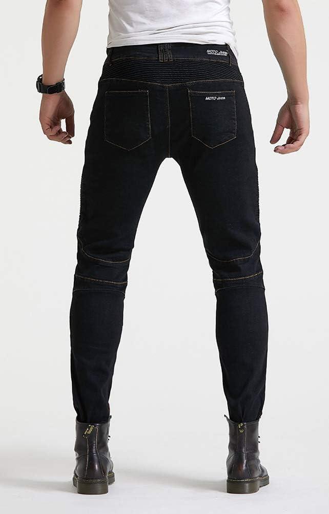 GELing Herren Motorradhose Jeans Motorrad Hose Motorradr/üstung Schutzauskleidung Motorcycle Biker Pants,Schwarz,S