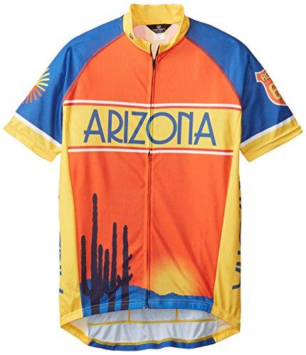 Canari Men's Arizona Classic Jersey, Multi, Large (Cycling Arizona Jersey)