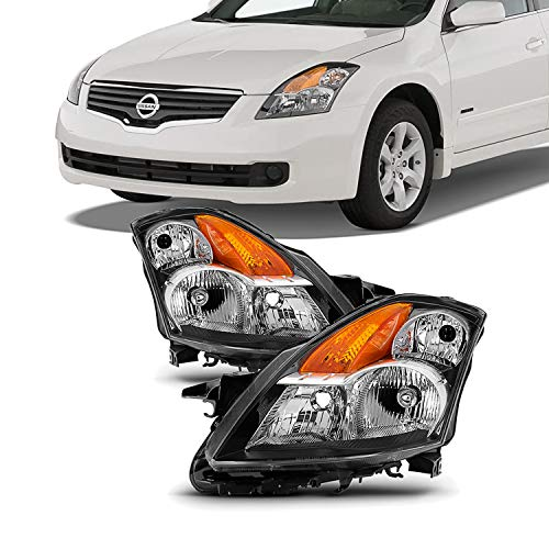 For 07-09 Nissan Altima 4DOOR 4Dr Sedan Factory Style Headlight Lamps Assembly Driver and Passenger Side