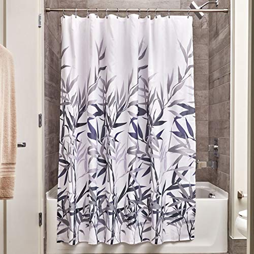 iDesign Anzu Fabric Shower Curtain, Water-Repellent and Mold- and Mildew-Resistant Liner for Master, Guest, Kid's, College Dorm Bathroom, 72