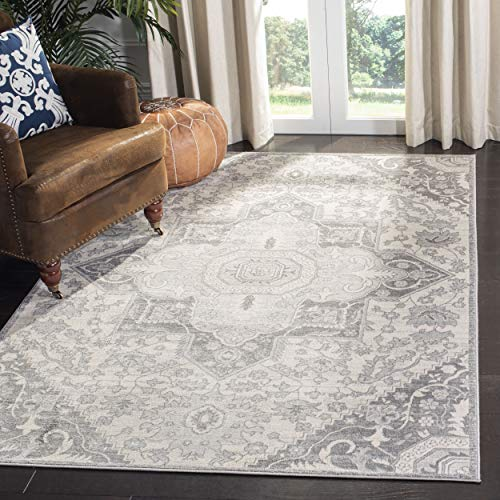 Safavieh BNT816B-8 Brentwood Collection BNT816B Grey and Cream Area (8' x 10') Rug