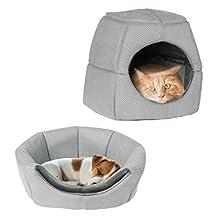 PETMAKER 80-PET6123 2 in 1 Convertible Pet Bed, Gray Print