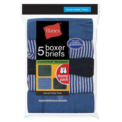 Hanes Little Boys' Boy's Red Label P5 Stripe Boxer Brief - Stripes - (Hanes Boys Red Label)