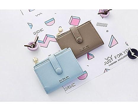 Amazon.com: Monedero minimalista con cremallera para hombre ...