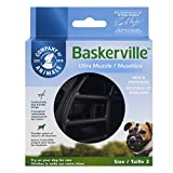 Baskerville Ultra Basket Dog Muzzle – The Company of Animals - Adjustable and Comfortable Secure Fit - Durable Lightweight Rubber - Stops Biting, safe retraining of aggressive dogs- Size-2, Black, 2 - Westie