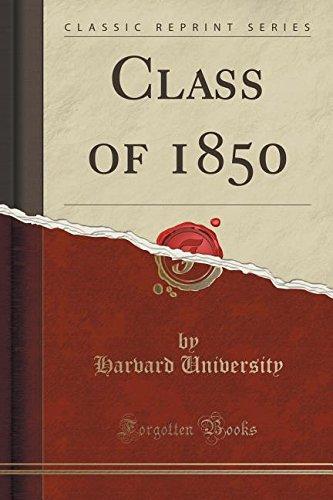Download Class of 1850 (Classic Reprint) PDF