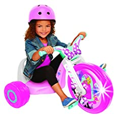 Get ready to roll with Fly Wheels! Zip around the neighborhood with your favorite character graphics. Let the LED lights on the front wheel whirl as your drive. Fly wheels encourage your child to get outside and exercise with endless rip-roar...