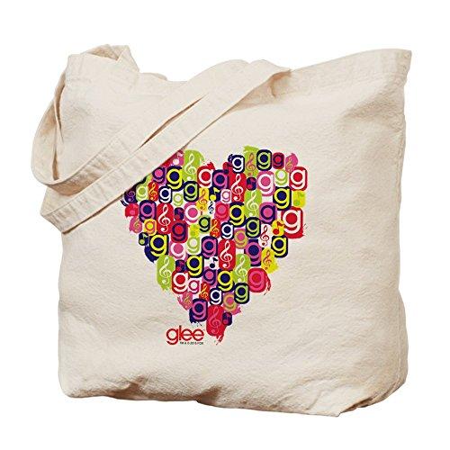 CafePress–Glee Cuore Tote Bag–Borsa di tela naturale, panno borsa per la spesa
