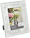 shabby chic picture frames  5X7 Embossed Metal Tin Distressed Tabletop Picture Frame, White