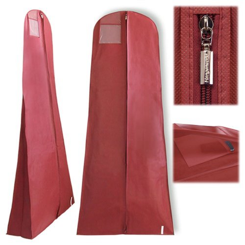 HANGERWORLD Burgundy 72in Breathable Dress Cover Zip Garment Protector Travel Storage Clothes Carry Bag by HANGERWORLD