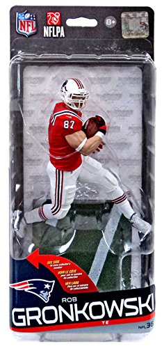 McFarlane Toys NFL New England Patriots Sports Picks Series 36 Rob Gronkowski Action Figure [Red Jersey, White Pants] by NFL