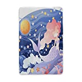 Vantaso Soft Blankets Throw Mermaid On Blue Sea Stars And Moon Microfiber Polyester Blankets for Bedroom Sofa Couch Living Room for Kids Children Girls Boys 60 x 90 inch