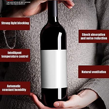 EnweGey Refrigerador Bodega, Vinotecas 12 Botellas con Display Digital y Panel de Control Táctil, Iluminación LED, Botellero Nevera para Vinos (Temperatura: 11-18 °C),Full Metal Shelf