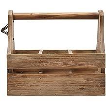 "Stone & Beam Modern Rustic Wine Rack Caddy, 11""H, Brown"