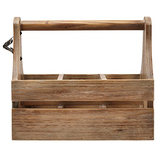 Stone & Beam Modern Rustic Wine Rack Caddy, 11