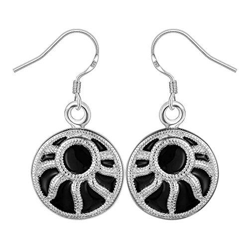 fonk: Women's New silver plated charms drop earings Bijoux Earrings For Wedding SMTE610