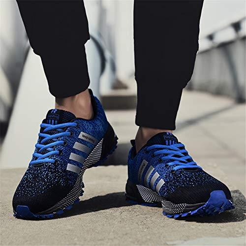Pictures of KUBUA Mens Running Shoes Trail Fashion Sneakers Tennis Sports Casual Walking Athletic Fitness Indoor and Outdoor Shoes for Men EU 45/11 D(M) US F Blue 6