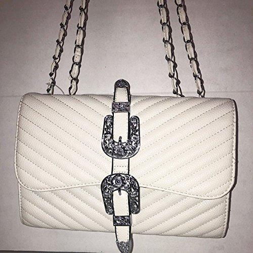 CASAFIORENTINA Bolso de mujer en piel beige Borrar con correa–Tamaño: 28cm x 20cm x 10cm Bea Bag estilo–New Collection–Primavera/Verano 2018
