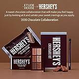 ETUDE HOUSE HERSHEY's Chocolate Brush Kit #Original - Play Color Eyes Mini Eyeshadow Palette & Brush - Special Limited edition