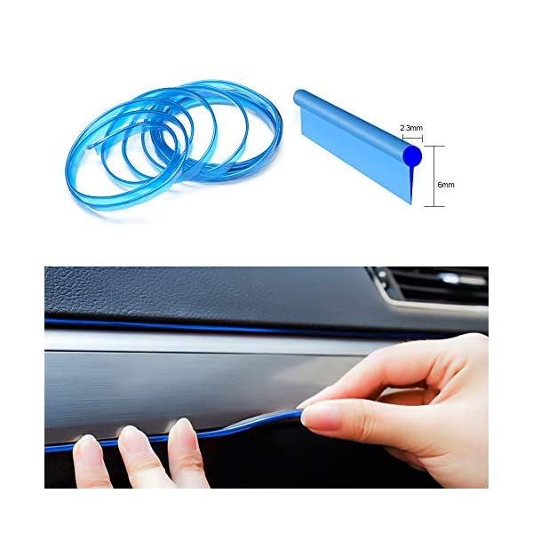 EL Wire USB Neon Lights DC 5V 9ft Sewable EL Neon Wire Blue Electroluminescent Wire//El Wire for Aotomotive Car Interior D/écor with 6mm Sewing Edge