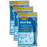 18 Riccar Simplicity Type H Vacuum Bags, Canister Vacuum Cleaners, S13L, S14CL, S18, S24, S30, S36, S38, 1500