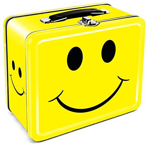 Aquarius Happy Face Tin Lunch Box (1970s Lunch Box)
