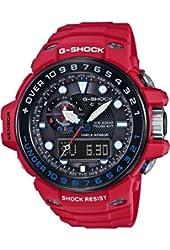 Casio G-Shock Gulfmaster Black Dial Red Resin Quartz Men's Watch GWN1000RD-4A