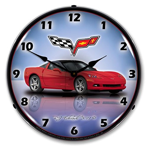Collectable Sign and Clock GMRE1112345 Crystal Red 14