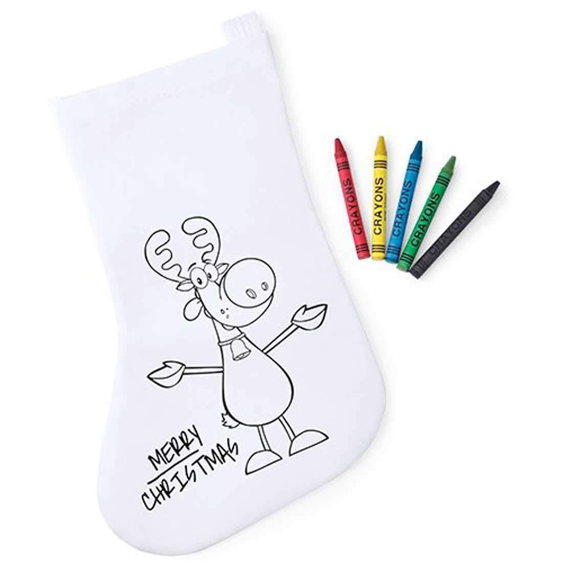 Lote de 30 Calcetines Infantiles Navidad para Colorear con 5 ...