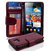 Cadorabo - Book Style Wallet Design for Samsung Galaxy S2 / S2 PLUS (I9100) with 2 Card Slots and Money Pouch - Etui Case Cover Protection in PASTEL-PURPLE