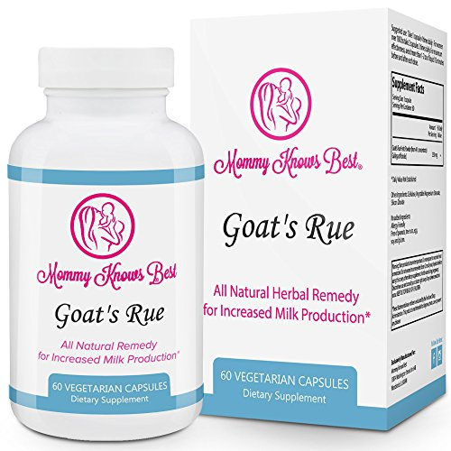 Goat's Rue Lactation Aid Support Supplement for Breastfeeding Mothers - 60 Vegetarian Capsules