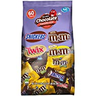 SNICKERS, M&M'S & TWIX Fun Size Variety Mix, Great for Valentine's Chocolate, 33.9-Ounce 60 Piece Bag