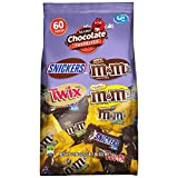SNICKERS, M&M'S & TWIX Fun Size Bulk Christmas Candy Variety Mix, 60 Pieces