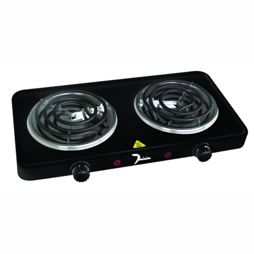 Dominion D1002 1500-Watt Double Coil Burner, Black