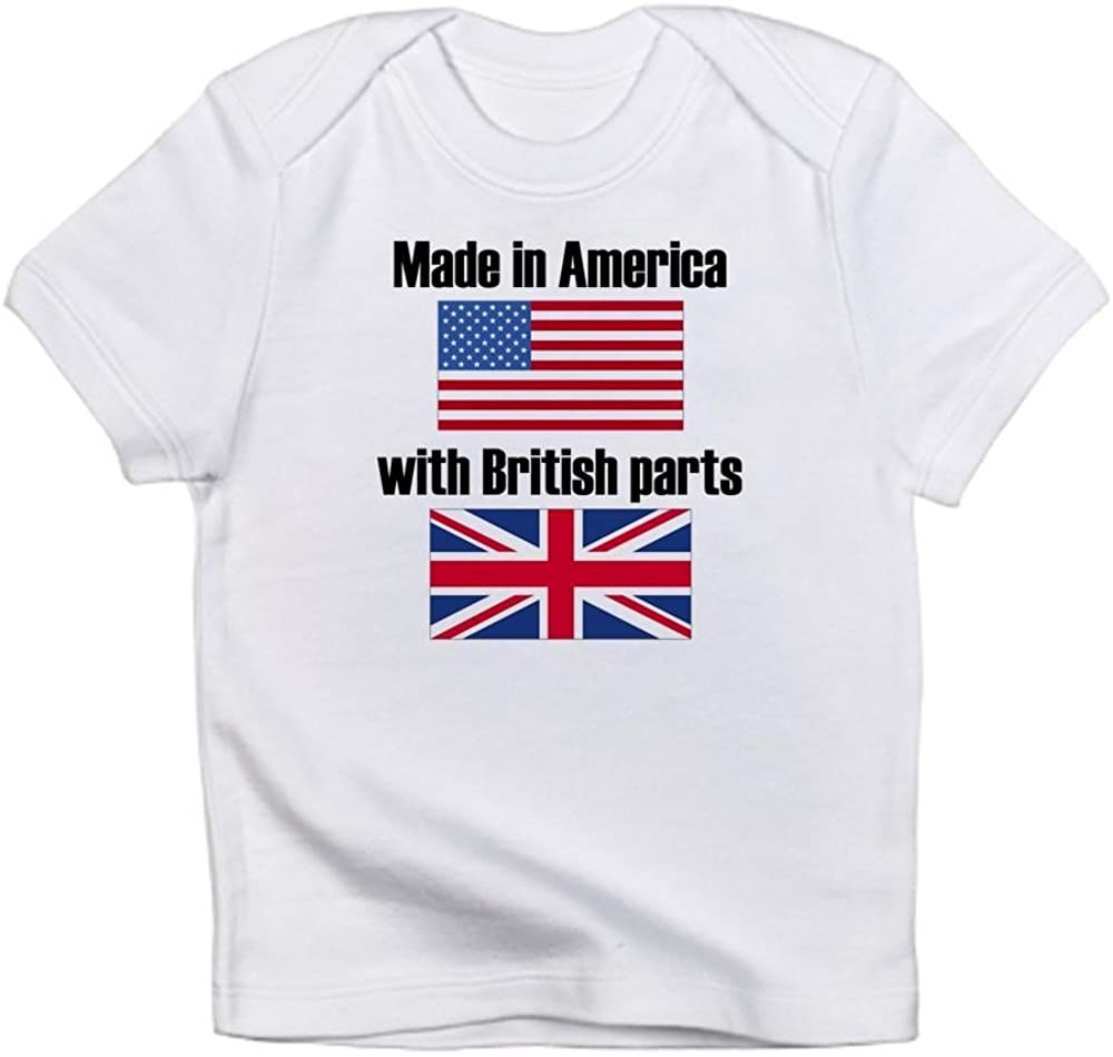 CafePress Made in America with British Parts Organic Baby T