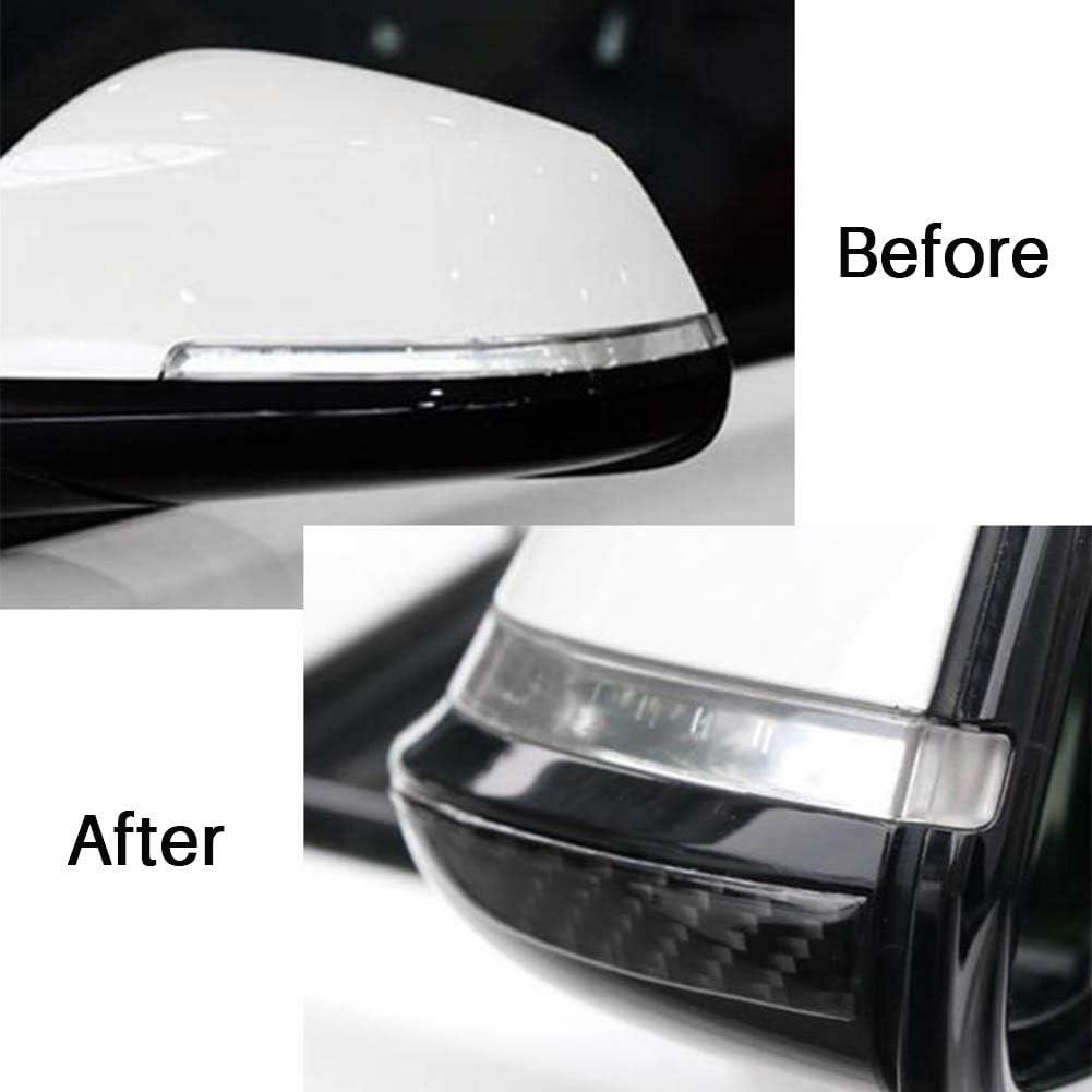 Universal Carbon Fiber Car Rearview Mirror Trim Side Mirror Protector Guard 2Pcs