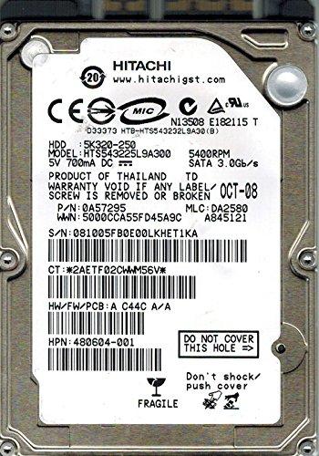 Hitachi HTS543225L9A300 P/N: 0A57295 MLC: DA2580 250GB