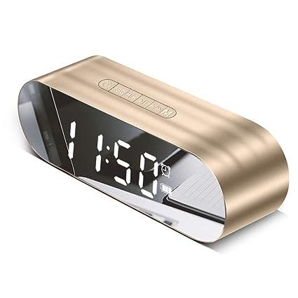 Amazon.com: HWTP Multifuncional Digital Mini reloj de alarma ...