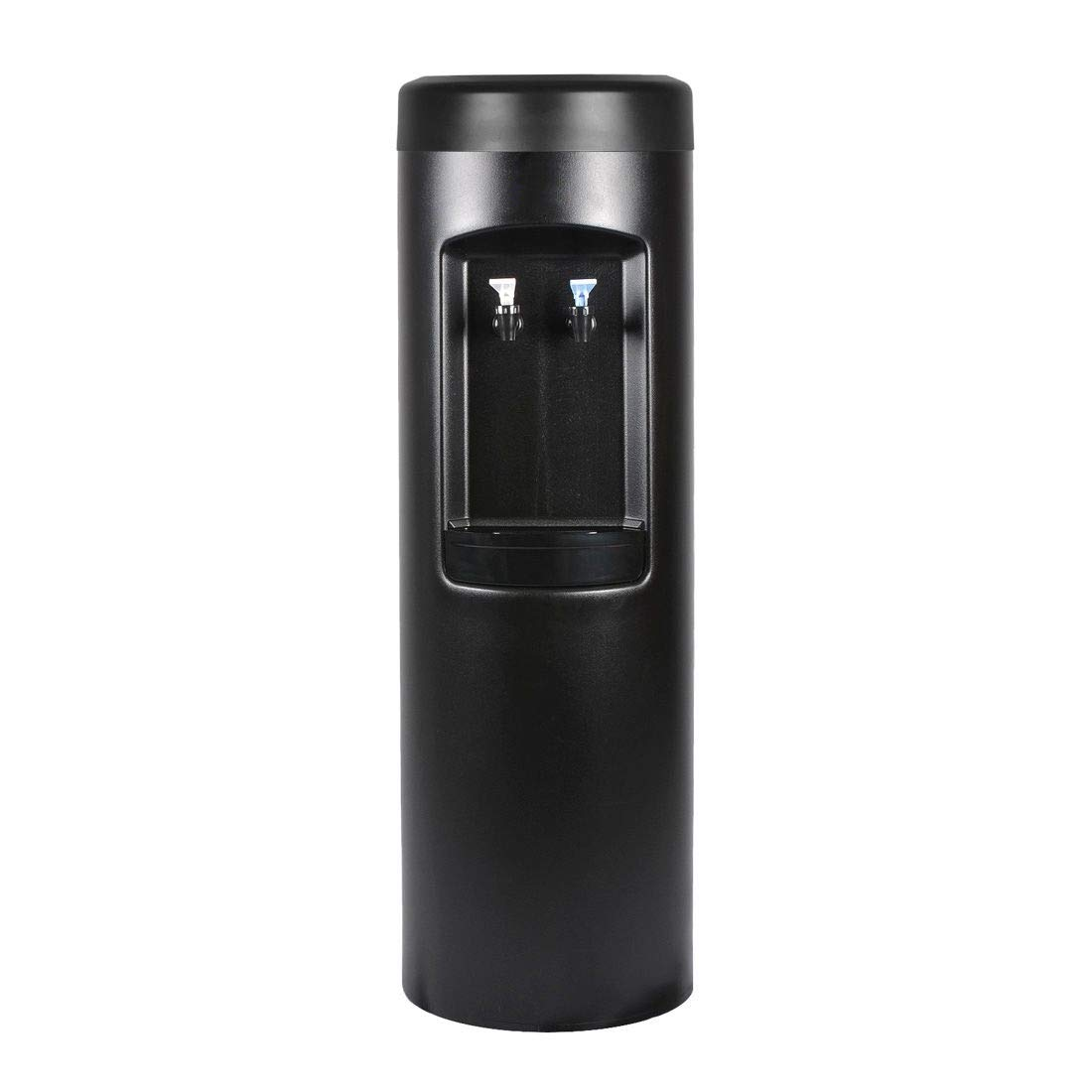 Black Bottleless Direct Water Purification Cooler with 1,500-gallon Capacity Water Filtration System and Installation Kit. Dispenses Room-Temp & Cold Water Dispenser. (Also Available in White)