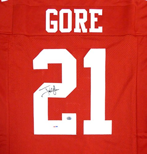 San Francisco 49ers Frank Gore Autographed Red Jersey (San Francisco 49ers Collectible Replica)
