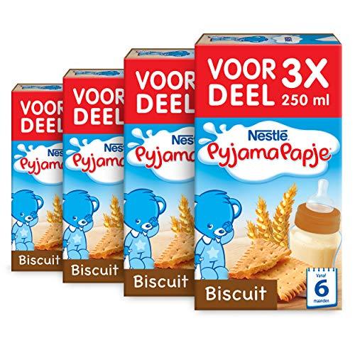 Nestlé PyjamaPapje Biscuit – babypap – vanaf 6 maanden – 4 stuks