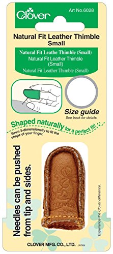 (Clover Natural Fit Leather Thimble,)